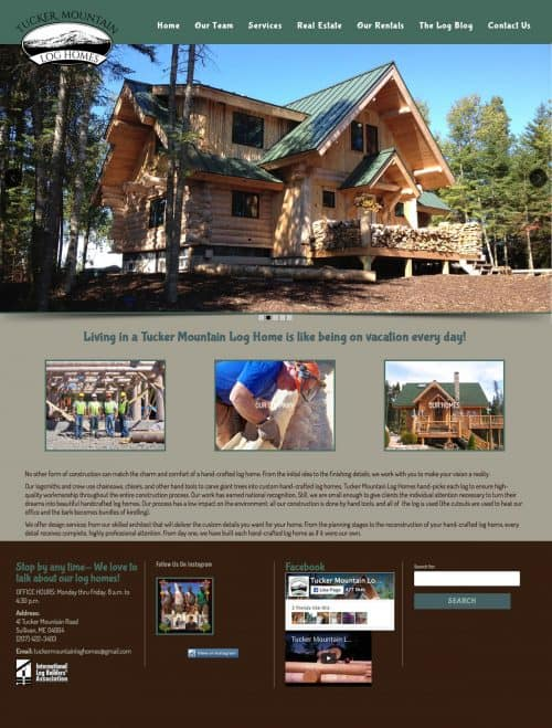 Tucker Mountain Log Homes